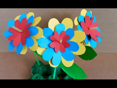Easy paper craft: How to make paper flowers