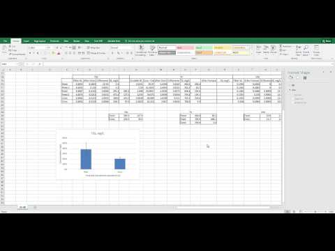 Excel 2016 Bar Graph Individual Error Bars
