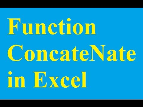 Function ConcateNate - Connect strings in Excel - Betdownload.com