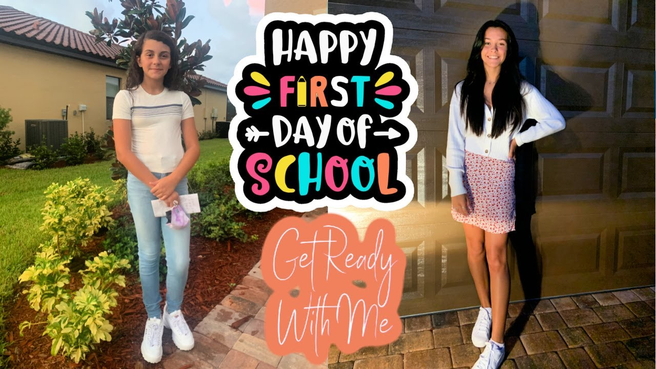 GRWM FOR THE FIRST DAY OF SCHOOL! MIDDLE SCHOOL VS HIGH SCHOOL EMMA AND ELLIE