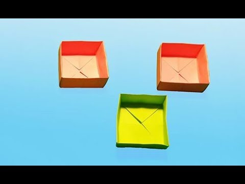 Easy Paper Box - How To Make A Paper Box - Easy Paper Box Hd Tutorial