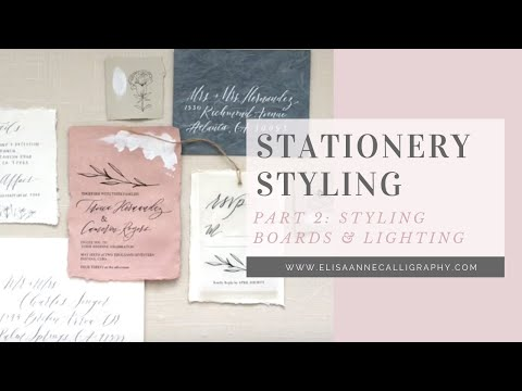 Stationery Styling Series: Part 2 - Styling Boards and Natural Lighting Tips