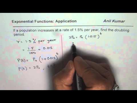 Find the Doubling Time of Exponential Growth