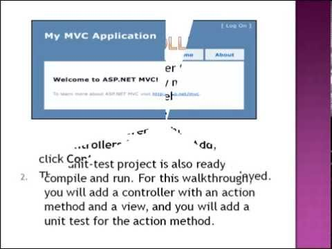 Creating a basic MVC Project with unit test using VS 2010
