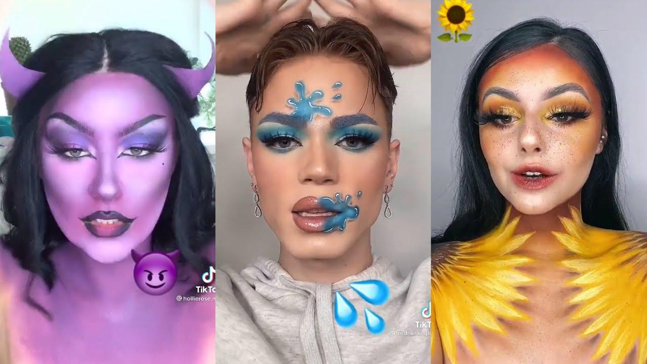 Emoji Makeup Challenge Compilation 😈🔥💦🌈🌺🌸🌼🌻 New tiktok trend