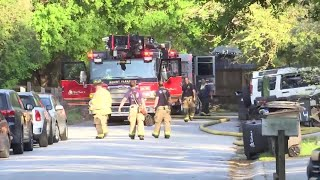 Mount Pleasant fire crews return to townhome Wednesday morning