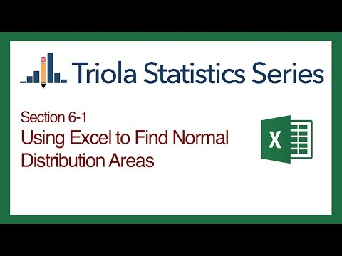 Excel Section 6-1: Using Excel to Find Normal Distribution Areas