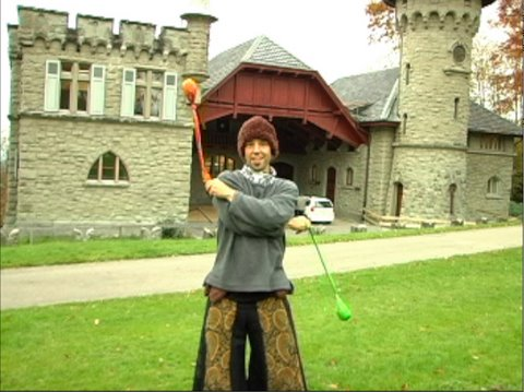 Poi Dancing Lesson: How to do Crossers (Intermediate)