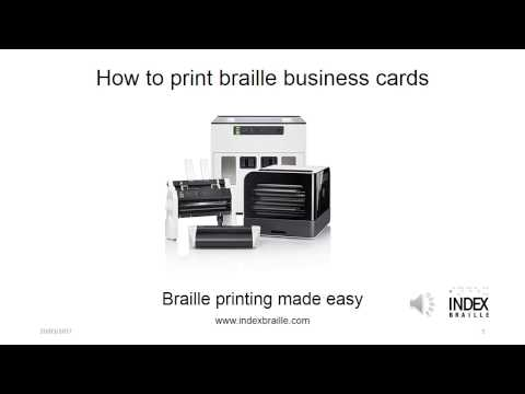 How to print braille business cards with Everest-D V4/V5