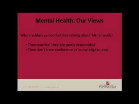 How to manage mental health issues in the workplace