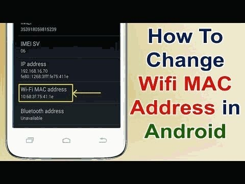 Change wifi mac address of your android mobile without rooting