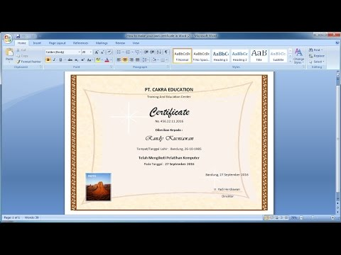 How to make your own certificate in Word (2)|Learn ms word easily