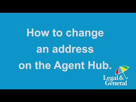 How to change an address on Agent Hub