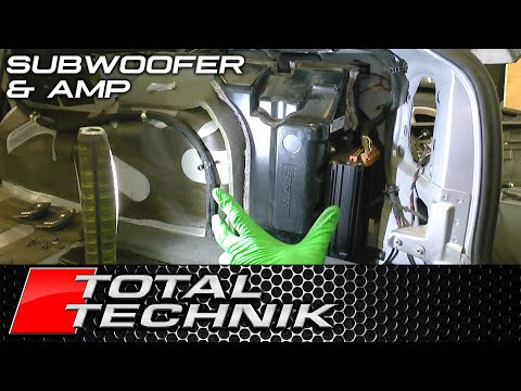 How to Remove Stereo Sub Woofer (and Amp) Avant - Audi A6 S6 RS6 - C5 - 1997-2005 - TOTAL TECHNIK