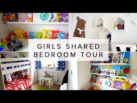 KIDS SHARED BEDROOM IDEAS ROOM TOUR- RAINBOW COLOURS