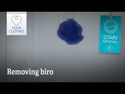 Stain removal: how to get biro out of clothes