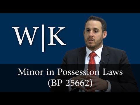 Minor in Possession (BP 25662)