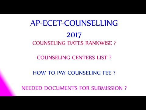 Ap Ecet Counselling 2017 admission Notification