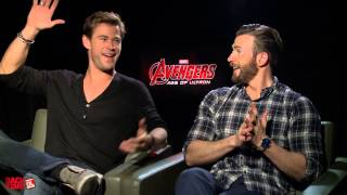 The Funniest Chris Hemsworth & Chris Evans Interview You