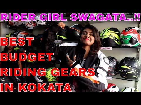 GEAR UP || BEST STORE IN KOLKATA FOR BRANDED RIDING HELMET, JACKET, GLOVES, BOOTS || IS SHE Buying??