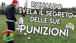 Ronaldo spiega al figlio il segreto delle sue punizioni  #doppiaggicoatti 