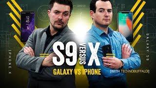 Galaxy S9 vs iPhone X: Part 2! [w/TechnoBuffalo]