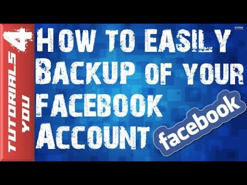 How to Recover|BackUp Facebook Account|Messages |Chat|Photos - Export All FB Data 2016