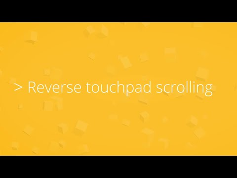 Reverse touchpad scrolling direction in Windows 10