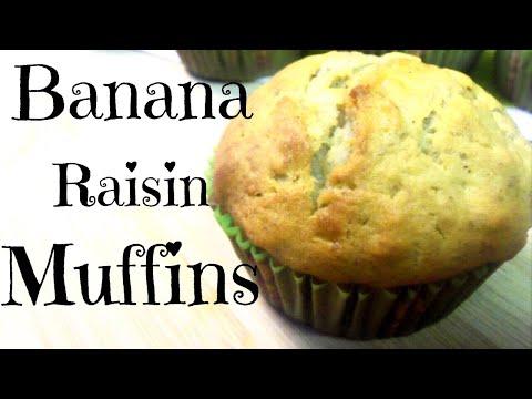 Banana Raisin Muffins Recipe ♥