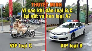 [Thuyết minh] Hai loại đội hình CSGT hộ tống VIP mà bạn hay gặp nhất trên đường phố VIP B, VIP C