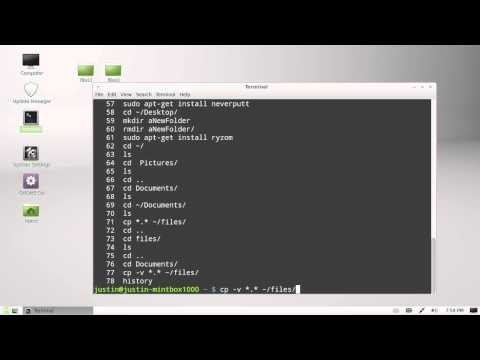 see your command line history - linux mint 13