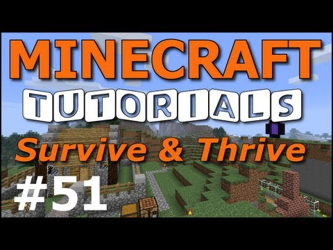 Minecraft Tutorials - E51 Light Posts and Lamps (Survive and Thrive II)