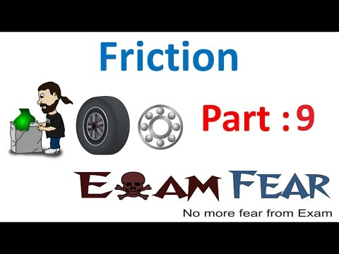 Physics Friction Part 9 (Increasing & Reducing Friction) Class 8  VIII
