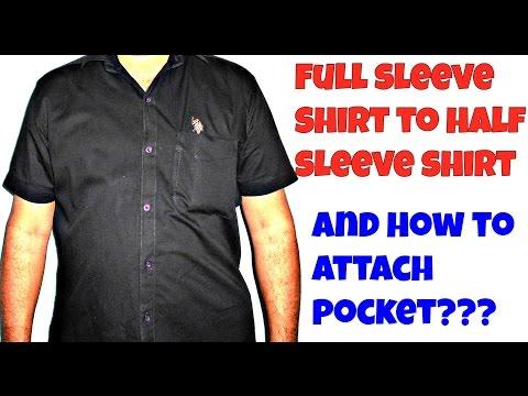 ★★Full Sleeve to Half Sleeve Shirt and Pocket Attachment★★ PUNJABI