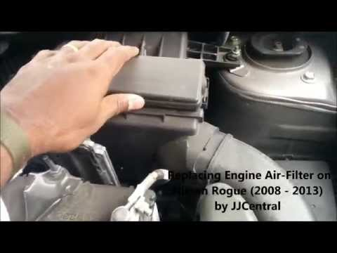 Engine Air Filter Replacement for (2008 to 2013) Nissan Rogue (How to Video)