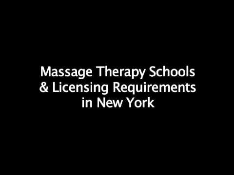 Requirements to become a licensed massage therapist (LMT) in New York