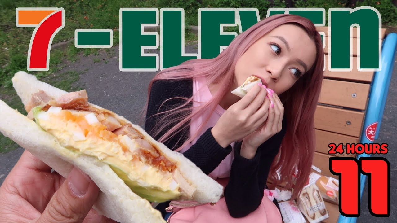 Eating Japanese 7-Eleven for 24 hours