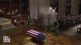 WATCH: Rev. Russell Levenson Jr. delivers homily at funeral for George H.W. Bush