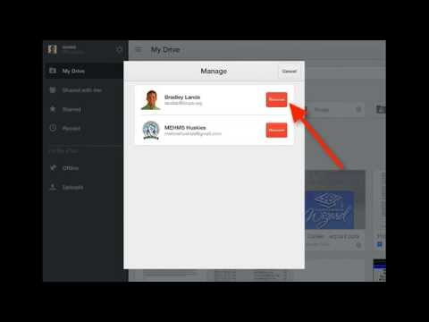 How to Remove Accounts on Google Drive App on iPad