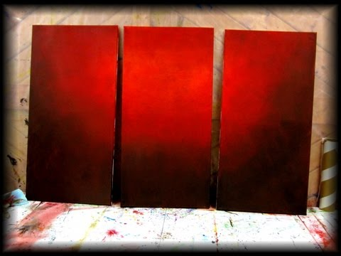 How to paint a vibrant red background - STEP by STEP - fast and easy