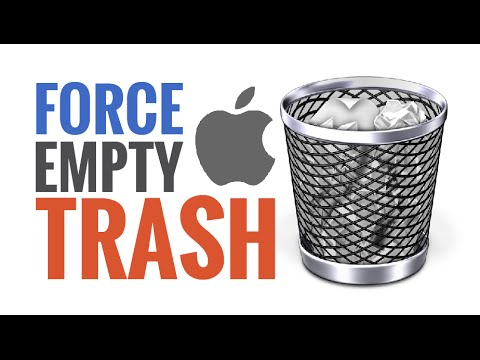 Mac Trash Won't Empty? Force Empty with Option Key