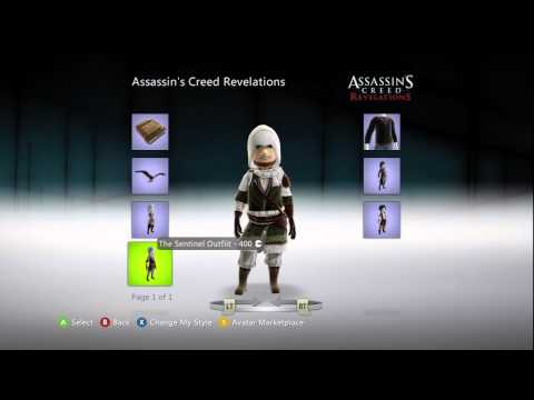 Assassin's Creed: Revelations XBox Live Avatar Marketplace Items