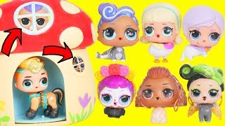 Lol Surprise Dolls Wrong Heads With Fuzzy Pets   Dress Up Lils Sisters | Toy Egg Videos