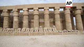 Ancient Karnak temple is restored with lime mortar