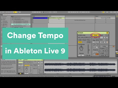 Changing Tempo In Ableton Live