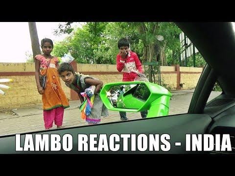Driving LAMBORGHINI Huracan In INDIA - REACTIONS