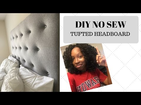 DIY | EASY NO SEW TUFTED HEADBOARD