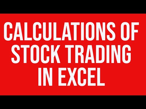 Calculations Security Trading Microsoft Excel