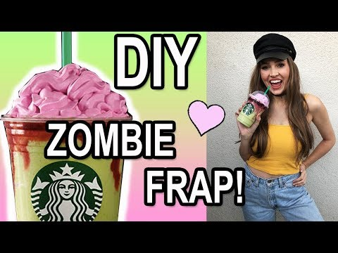 DIY STARBUCKS ZOMBIE FRAPPUCCINO ♡ How to make your own Zombie Frap!