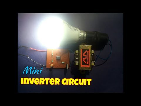 How To Make A Mini Inverter Circuit At Home...Simple Mini Inverter Circuit Making...